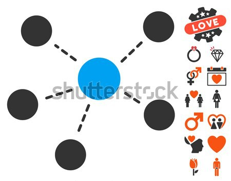 Collaboration Flat Icon Stock photo © ahasoft
