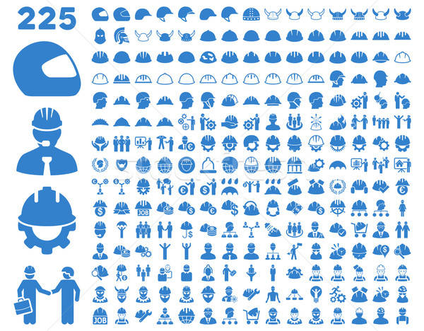 Work Safety and Helmet Icon Set. Stock photo © ahasoft