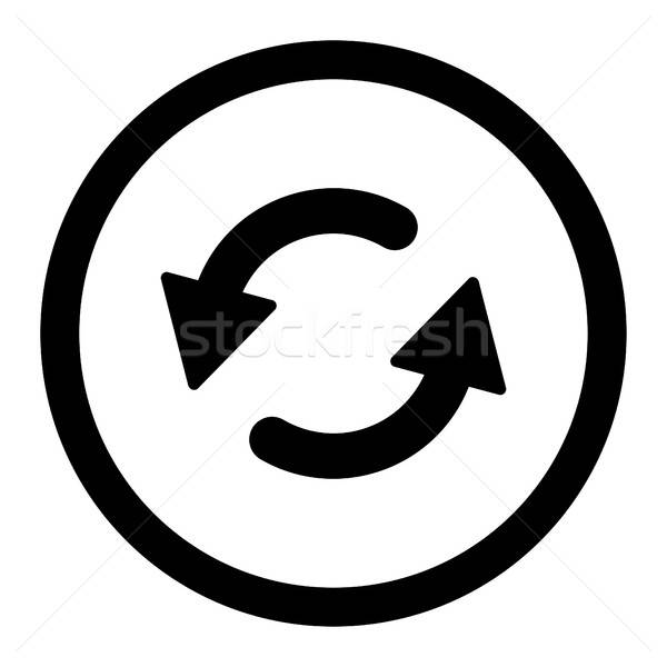 Refresh Ccw flat black color rounded vector icon Stock photo © ahasoft