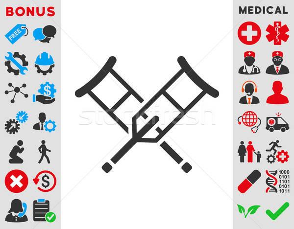 Crutches Icon Stock photo © ahasoft