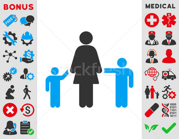 Mother And Children Icon Stock photo © ahasoft