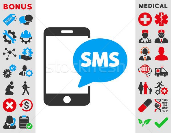 телефон sms икона вектора стиль символ Сток-фото © ahasoft