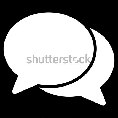Message Cloud Flat Raster Icon Stock photo © ahasoft