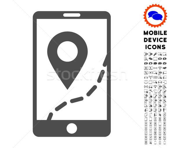 Mobiles carte navigation icône smartphone Photo stock © ahasoft