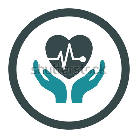 Cardiology Flat Vector Icon Stock photo © ahasoft