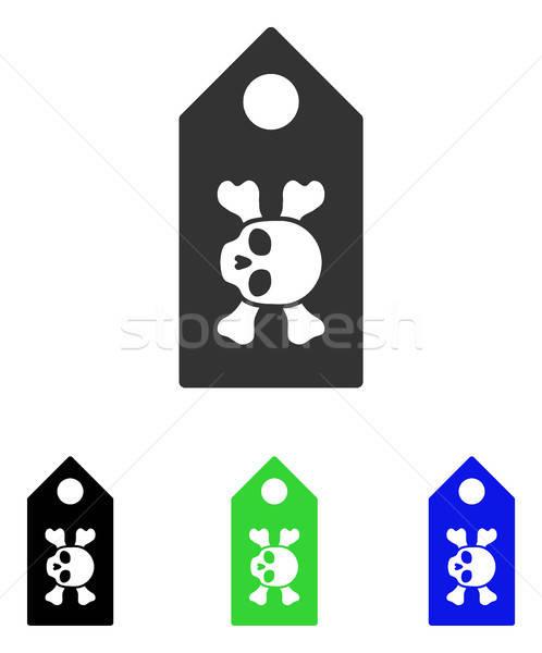 Mort étiquette vecteur icône illustration style Photo stock © ahasoft