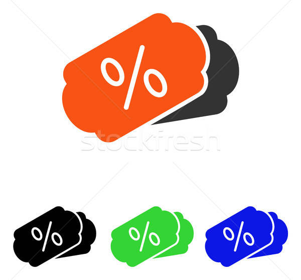Discount Coupons Flat Vector Icon Stock photo © ahasoft