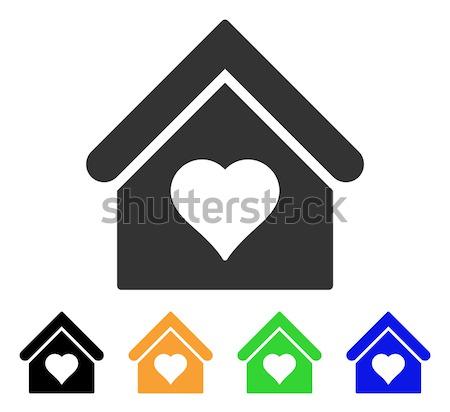 Elfekvő vektor ikon piktogram illusztráció stílus Stock fotó © ahasoft
