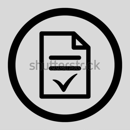 Stock photo: Valid Document Flat Vector Icon