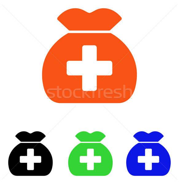 медицинской фонд мешок вектора икона пиктограммы Сток-фото © ahasoft