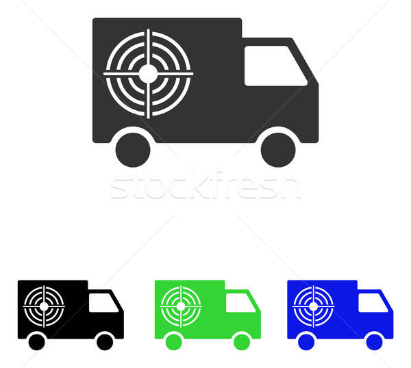 Shooting Gallery Truck Flat Vector Icon Stock photo © ahasoft