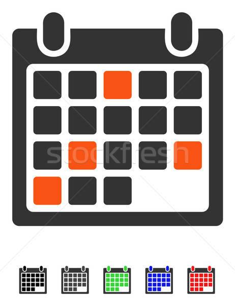 Calendario appuntamento icona vettore colorato colore Foto d'archivio © ahasoft