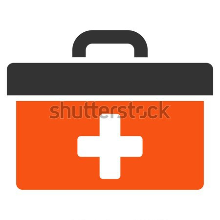 First Aid Toolbox Flat Icon Stock photo © ahasoft