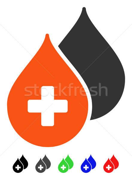 Médicos gotas icono color negro Foto stock © ahasoft