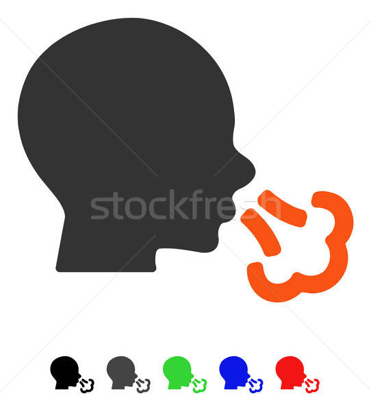 Sneezing Flat Icon Stock photo © ahasoft