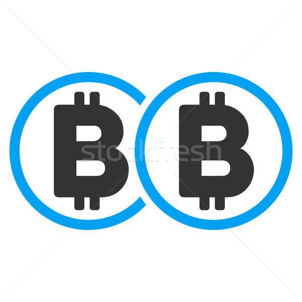 Double Bitcoin Flat Icon Stock photo © ahasoft