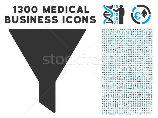воронка икона медицинской бизнеса иконки серый Сток-фото © ahasoft