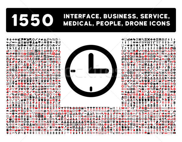 Time Icon and More Interface, Business, Tools, People, Medical, Awards Flat Glyph Icons Stock photo © ahasoft