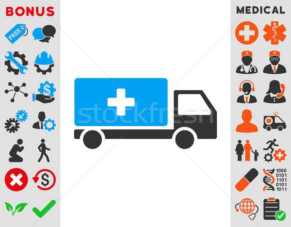 Orvosi szállítmány ikon vektor stílus szimbólum Stock fotó © ahasoft