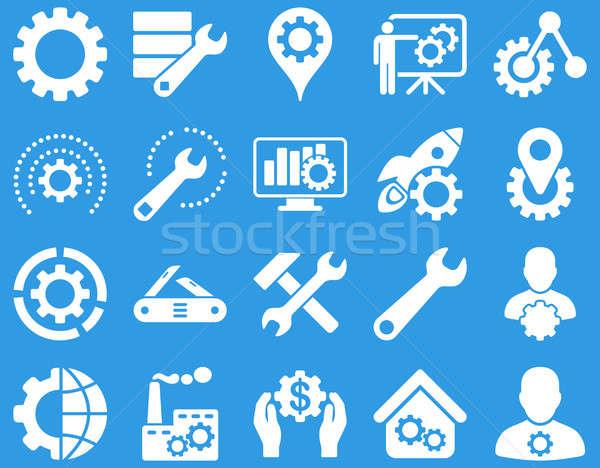 Herramientas iconos establecer estilo Foto stock © ahasoft