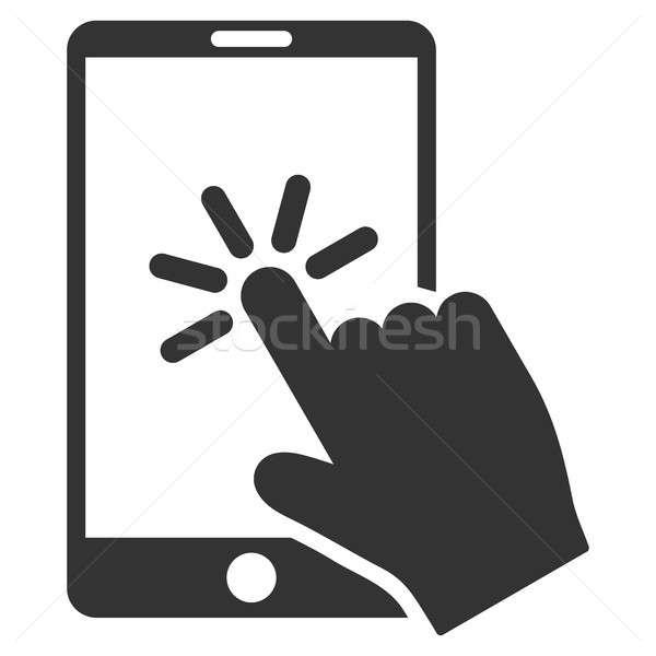 Smartphone icône gris symbole pictogramme Photo stock © ahasoft