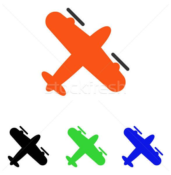 śruby samolotu wektora ikona ilustracja stylu Zdjęcia stock © ahasoft