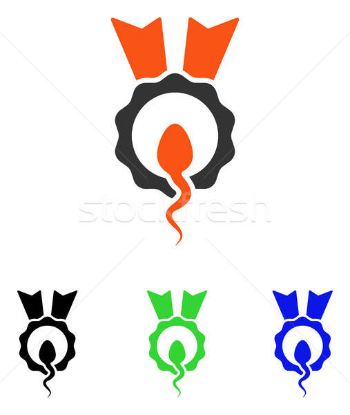 Sperm Winner Flat Vector Icon Stock photo © ahasoft