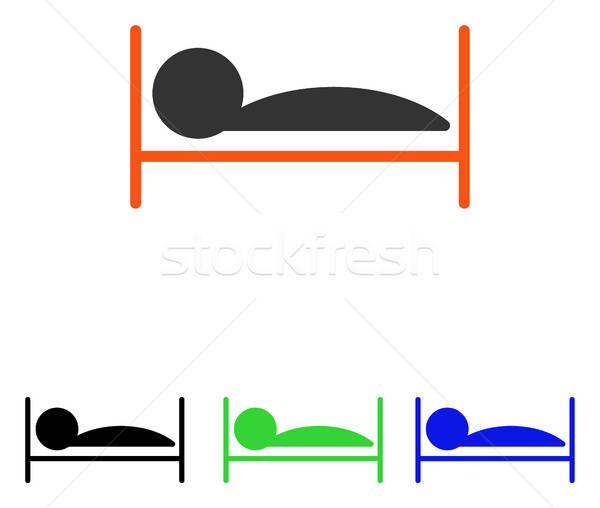 пациент кровать вектора икона пиктограммы иллюстрация Сток-фото © ahasoft