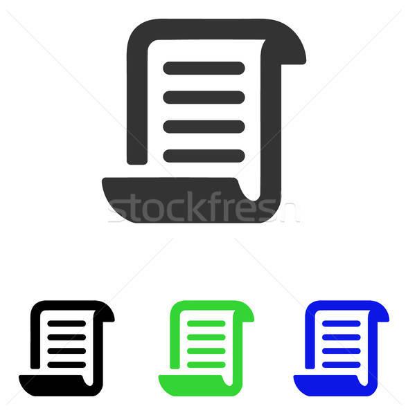Papel rodar vector icono ilustración estilo Foto stock © ahasoft