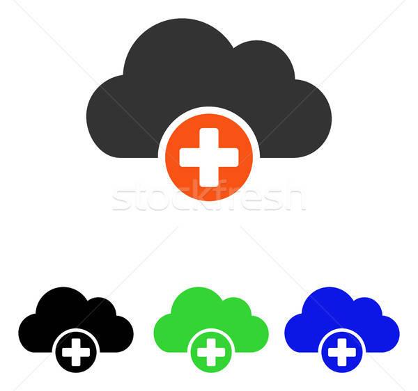 Nube medicina vector icono pictograma ilustración Foto stock © ahasoft