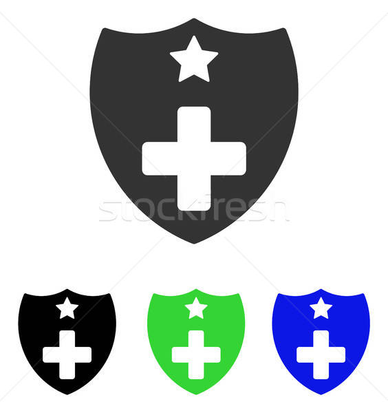 Medical Insurance Shield Flat Vector Icon Stock photo © ahasoft