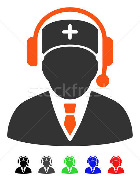 Nood manager icon vector pictogram gekleurd Stockfoto © ahasoft