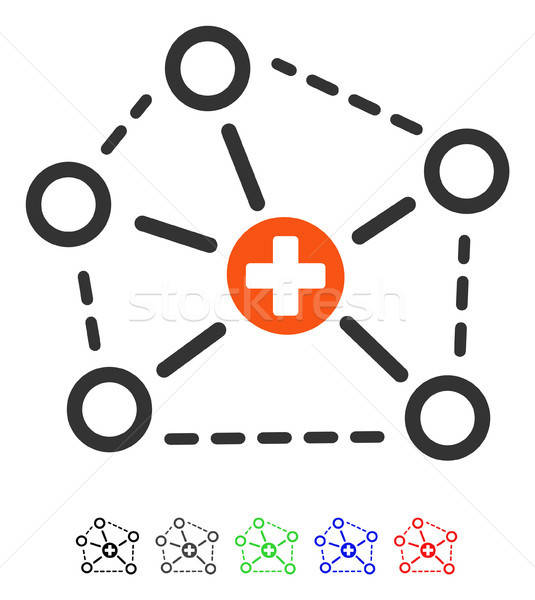 Tıbbi ağ yapı ikon vektör renkli Stok fotoğraf © ahasoft