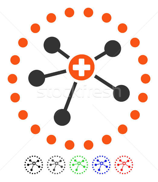 Stockfoto: Medische · icon · vector · gekleurd · kleur