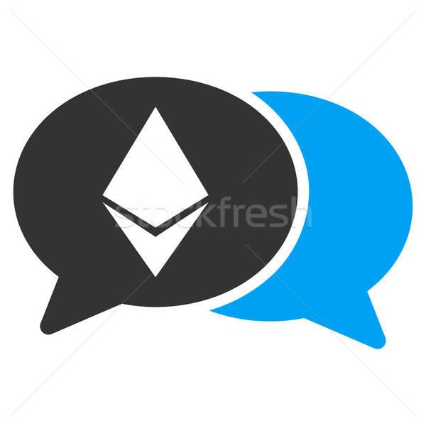 Stockfoto: Chat · icon · vector · pictogram · toepassing · web · design