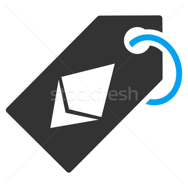 Ethereum Tag Flat Icon Stock photo © ahasoft