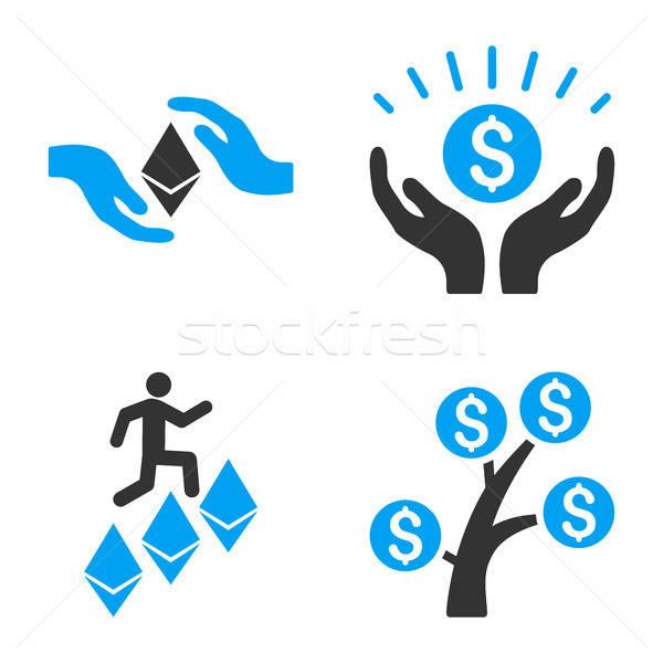 Financial Prosperity Vector Icon Set Stock photo © ahasoft