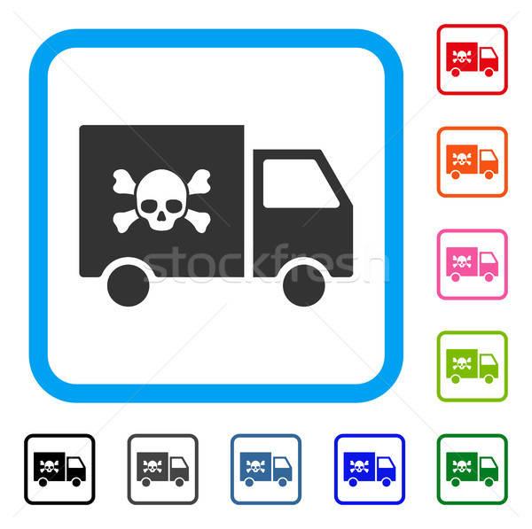 Mérgező közlekedés autó ikon szürke piktogram Stock fotó © ahasoft