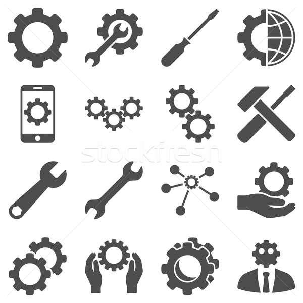 Opcje usługi narzędzia stylu symbolika Zdjęcia stock © ahasoft