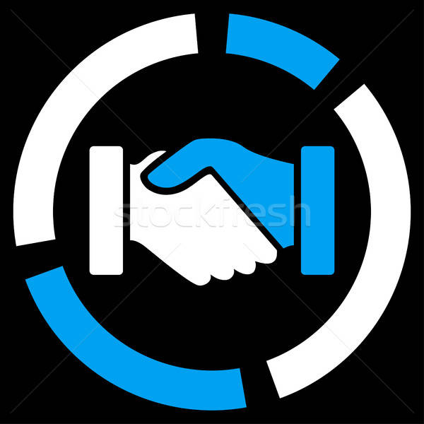 Acquisitie diagram icon business ingesteld vector Stockfoto © ahasoft