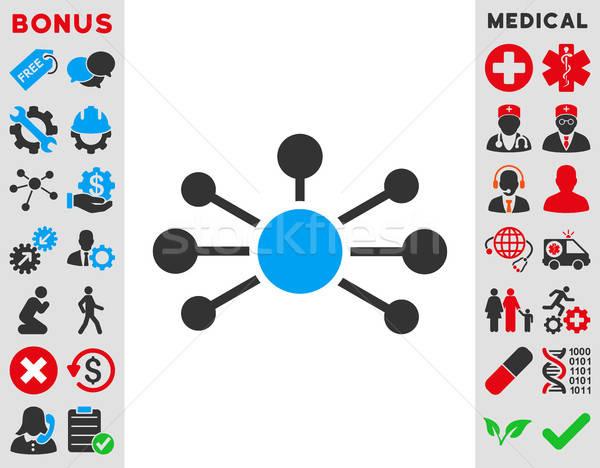 Betrekkingen icon vector stijl symbool Blauw Stockfoto © ahasoft