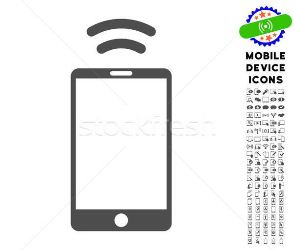 Mobil jel ikon gyűjtemény ikon mobiltelefon csomag Stock fotó © ahasoft
