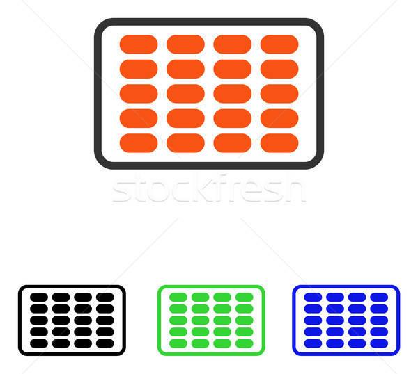 Hólyag vektor ikon piktogram illusztráció stílus Stock fotó © ahasoft