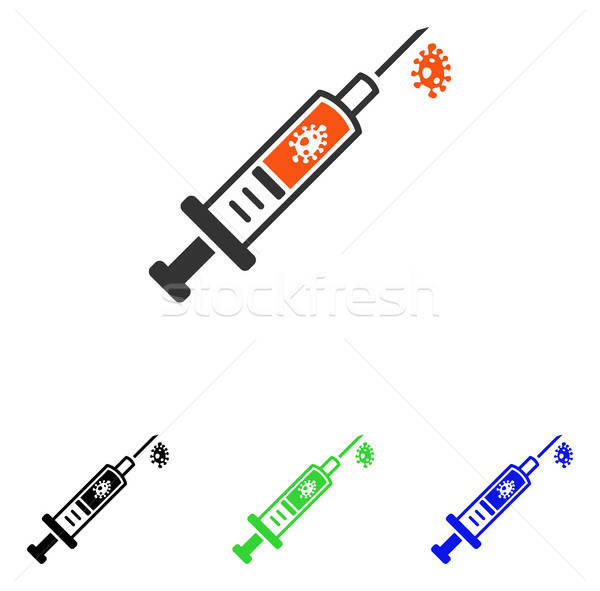Stock photo: Infection Injection Flat Vector Icon