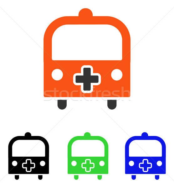 Medical Bus Flat Vector Icon Stock photo © ahasoft