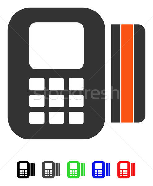 Card Processor Flat Icon Stock photo © ahasoft