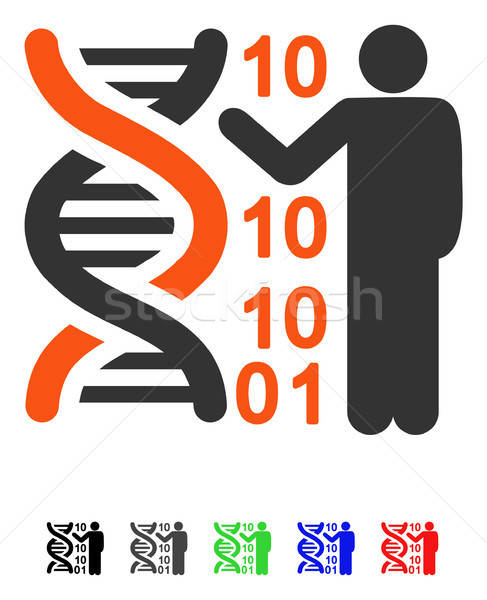 DNA Code Report Flat Icon Stock photo © ahasoft