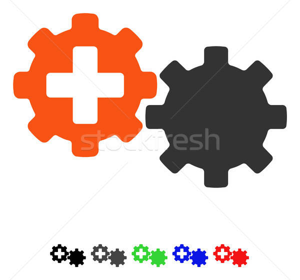 Medical Process Gears Flat Icon Stock photo © ahasoft