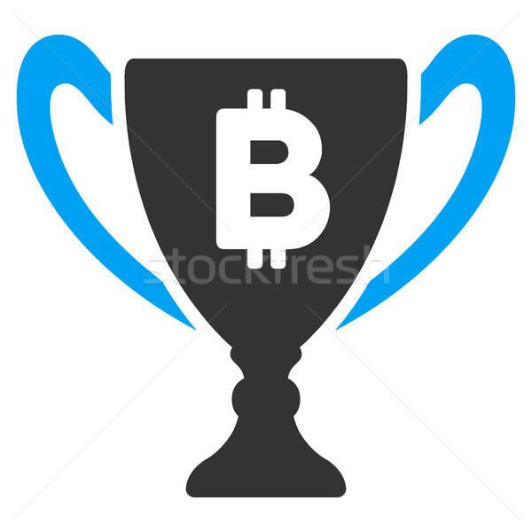Bitcoin Award Cup Flat Icon Stock photo © ahasoft