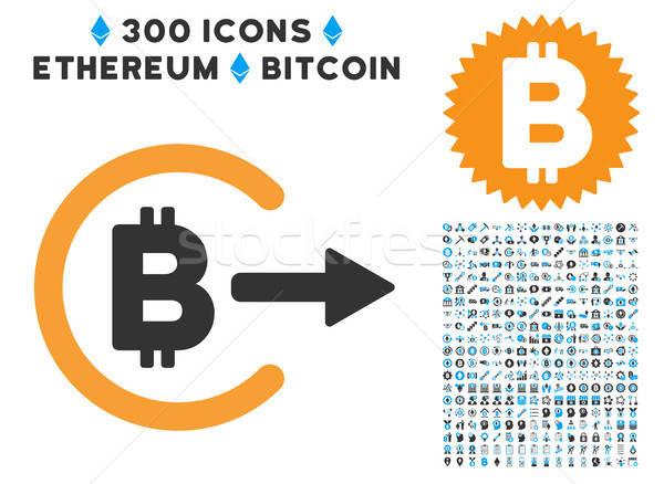 Bitcoin ícone clip-art inteligente contrato pictogramas Foto stock © ahasoft
